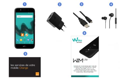 Wiko WIM Lite, contenu du coffret.