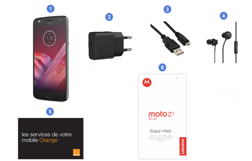 Motorola (Lenovo) Z2 Play, contenu du coffret.