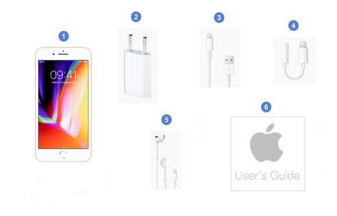 Apple iPhone 8 Plus, contenu du coffret.