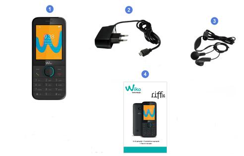 Wiko Riff 3G, contenu du coffret.