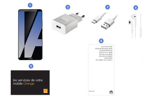 Huawei Mate 10 Pro, contenu du coffret.