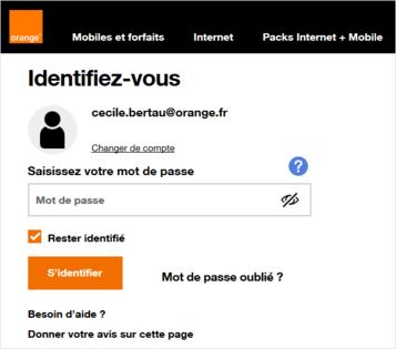 Orange.fr : vous identifier
