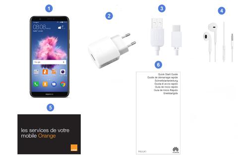 Huawei P Smart, contenu du coffret.