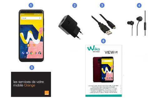 Wiko View Lite, contenu du coffret.