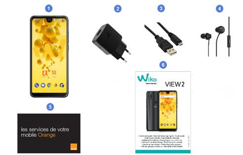 Wiko View 2, contenu du coffret.