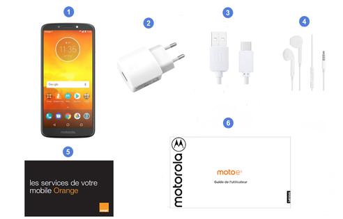 Motorola (Lenovo) Moto E5, contenu du coffret.