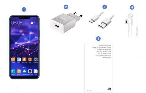 Huawei Mate 20 Lite, contenu du coffret.
