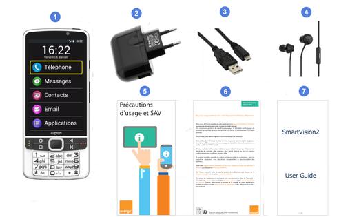 Kapsys SmartVision 2 Premium, contenu du coffret.