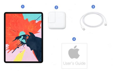 Apple iPad Pro 11 2018, contenu du coffret.