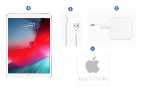 Apple iPad Mini 2019, contenu du coffret.
