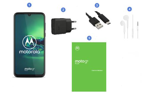 Motorola Moto G8 Plus, contenu du coffret.