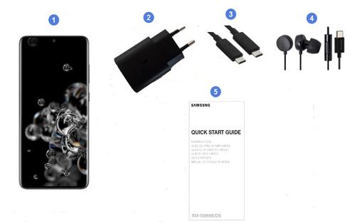 Samsung Galaxy S20 Ultra, contenu du coffret.