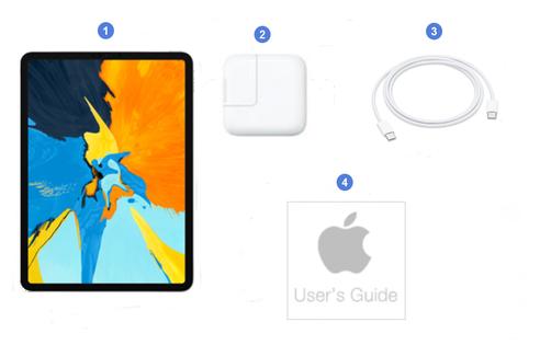 Apple iPad Pro 11 2020, contenu du coffret.
