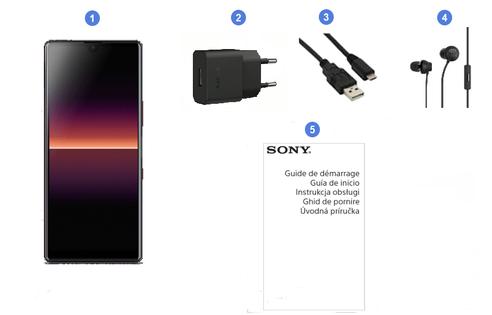 Sony Xperia L4, contenu du coffret.