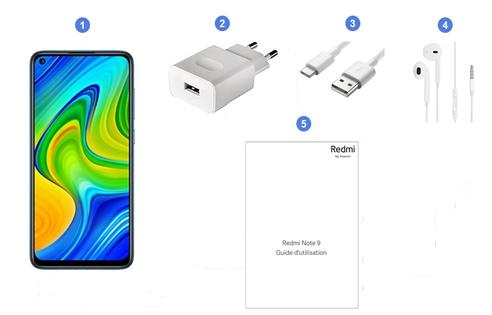 Xiaomi Redmi Note 9, contenu du coffret.