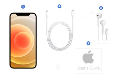 Apple iPhone 12, contenu du coffret.