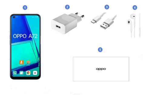 Oppo A72, contenu du coffret.