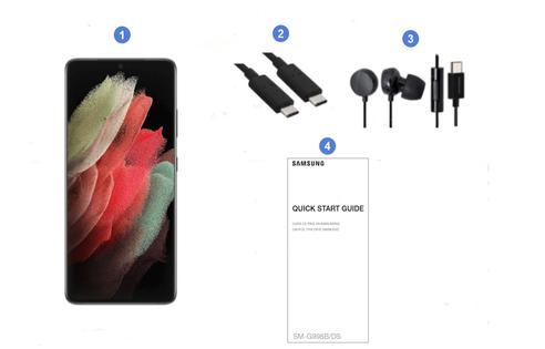Samsung Galaxy S21 Ultra 5G, contenu du coffret.