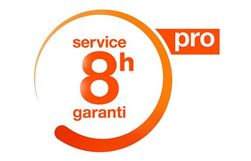 Service 8h garanti pro.