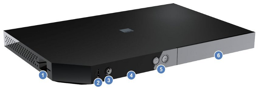 Vue avant du décodeur Livebox Play (IHD 92)