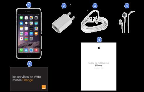 apple iphone6 plus, contenu du coffret.