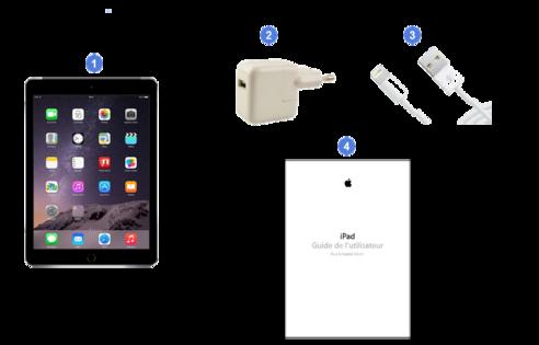 apple ipad mini3, contenu du coffret.