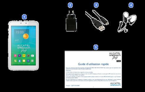 alcatel one touch pop 7s, contenu du coffret.